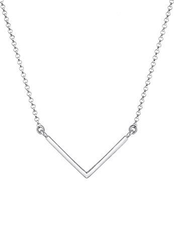 Elli Halskette Damen V-Shape Anhänger Geo Minimal in 925 Sterling Silber vergoldet