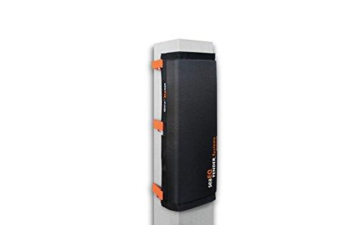 seaEQ YACHTSPORT EQUIPPED Pfahlfender breit M, Spanngurtsystem PFS 650 für mittlere Pfähle, Dalbenfender, Hafenfender PF 40/80 schwarz M