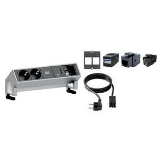 Bachmann Desk 2 - Power Extensions (Black, White, Aluminium)
