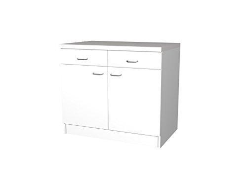Küchen Unterschrank Rapido 100 cm weiss Melamin • Küchenausstattung ...