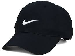 CANGOL NIKE LOOK SPORTS CAP BLACK FOR MEN AND WOMEN (100% COTTON) FREE SIZE  available at amazon for Rs.379