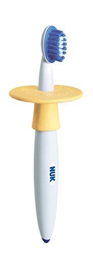 NUK - Cepillo dental de Inicio Amarillo | Con anillo de protección