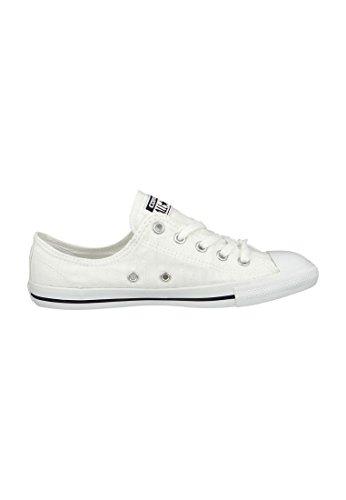 Converse Mandrini Ballerina 551656C grigio Dainty All Star Ballet Lace mouse Bianco Nero White Black White