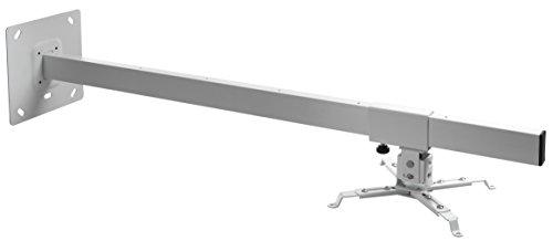 celexon Beamer-Wandhalterung MultiCel WM1000 - weiß - Wandabstand bis 100 cm - bis 15 kg - Neig- und schwenkbar