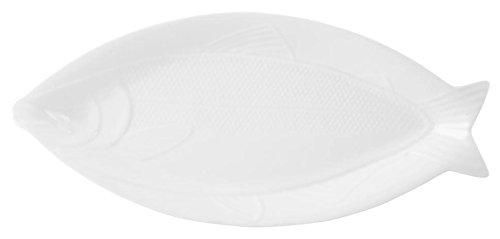 HOTELWARE Plat Poisson, 49 x 22 cm, Porcelaine, Blanc