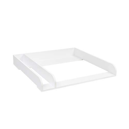 Puckdaddy - Wickelaufsatz extra rund mit Trennfach, für IKEA Malm, ohne Kommode