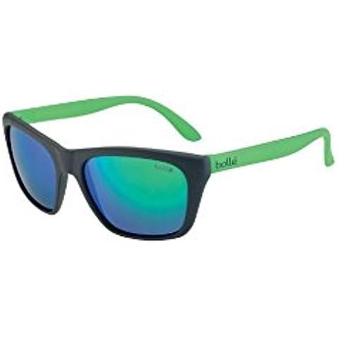 Bollé Kids Jordania gafas de sol, 8–11Años, Jordan, Infantil, color negro/verde, tamaño 8 - 11