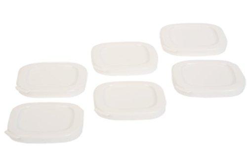 6 couvercles de pots à yaourt carrés pour yaourtière seb - 7cm intérieur, 7,5cm extérieur dessus
