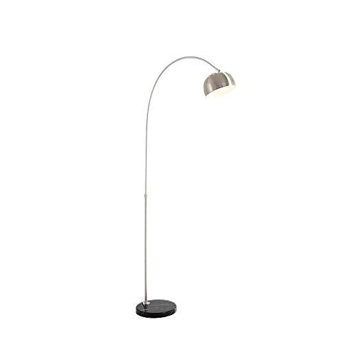 HU HAO UK Stehlampe- Verstellbare Arc Stehleuchte mit Marmorsockel, Silber (größe : S)