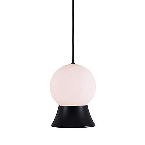 MoiHL LED Horn Kronleuchter Nordic Glass Ball Fisch Linie Form Pendelleuchte Restaurant Schlafzimmer, Gold,Schwarz