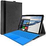 JETech Hülle für Microsoft Surface Pro 6 / Surface Pro (5 Generation) / Surface Pro 4, Schutzhülle kompatibel mit Typabdeckungs Tastatur, Schwarz
