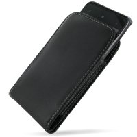 PDair Leather Case for HTC HD7 T9292 - Vertical Pouch Type (Black) (Htc Black)