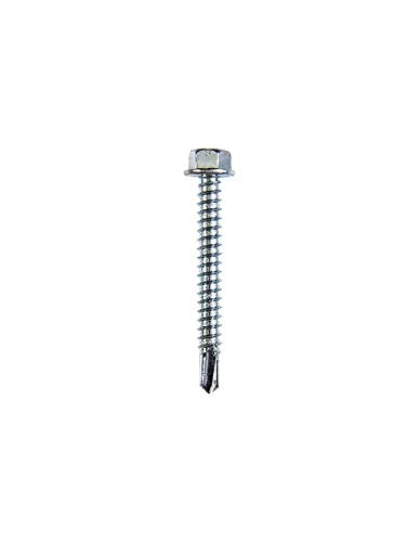 SWG 211 630 050 10 B23407 Vis avec mousse Heibe 6,3 x 50 Acier galvanisé 50 mm 100 Pcs