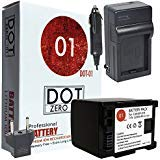 DOT-01 Brand 2200 mAh Replacement Canon BP-819 Battery and Charger for Canon HG20 Camcorder and Canon BP819