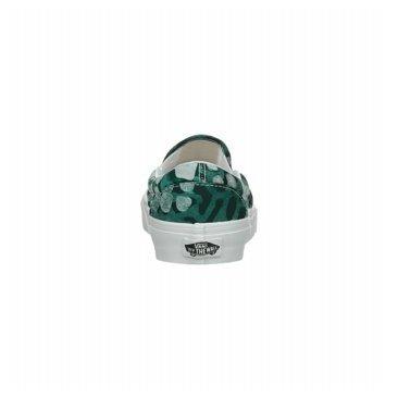Vans Classic Slip On Femme Baskets Mode Vert Multicolore