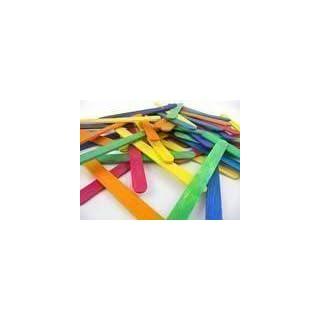 Anycraft UK - 50 Farbige Lutscher Holz Sticks zum Basteln