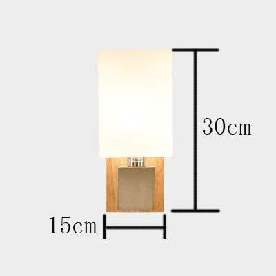Style Schrank Eiche (HNZZN Wandleuchte Modern Japan Style Eiche Holz Wandleuchte Wandleuchte für Schlafzimmer Massivholz Schrank Luminaria Lamparas Applique, einzeln)