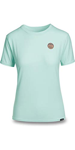 DAKINE Womens Dauntless Loose Fit Kurzarm Rash Weste Top Pastel Heather - 6,5 Unzen Loose Fit Surf-Shirt - Flatlock-Nähte