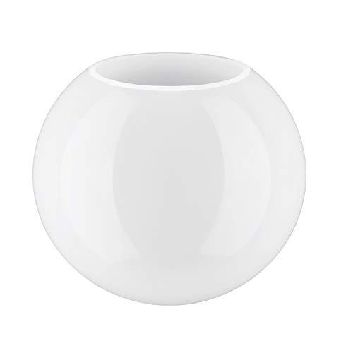 15.0cm Durchmesser Weiß Glas Globe Lampenschirme mit Kein Halsband. Umfang: 47 cm, Loch: 7.0cm dia. (Kugel, Kreis, Kugel, Licht, Ersatz) -