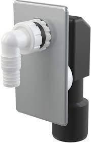 Aquashine Alta Qualità Unterputzsiphon Aps 3 Unterputz-Siphon per Lavatrice Waschmaschinensiphon Chiusura Anti Odori Waschmaschinenschlauchanschluß Colore: Cromo