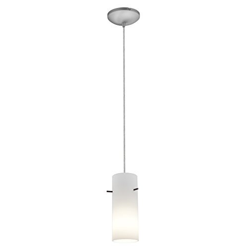 access-lighting-28030-3c-bs-opl-cylinder-led-cord-pendant-with-opal-glass-shade-brushed-steel-by-acc