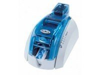 Evolis Pebble 4–Imprimante de cartes (1000Carte/heure, 150Carte/heure, 16MB, eMedia Card Designer, 100feuilles, 300x 300dpi) Bleu, Couleur Blanc