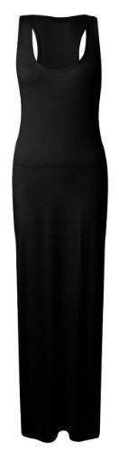 femmes-noir-et-gris-long-sans-manche-robe-maxi-avec-pull-over-dos-nageur-noir-s-m-8-10