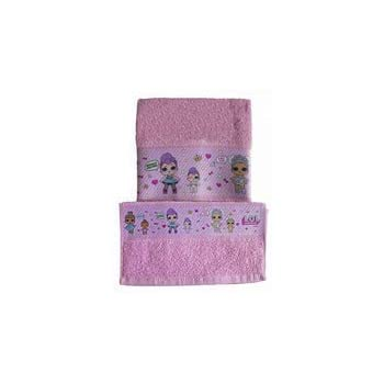 Russo Tessuti Set Asciugamani 1+1 Viso Ospite LOL Spugna Bambina Baby Cotone