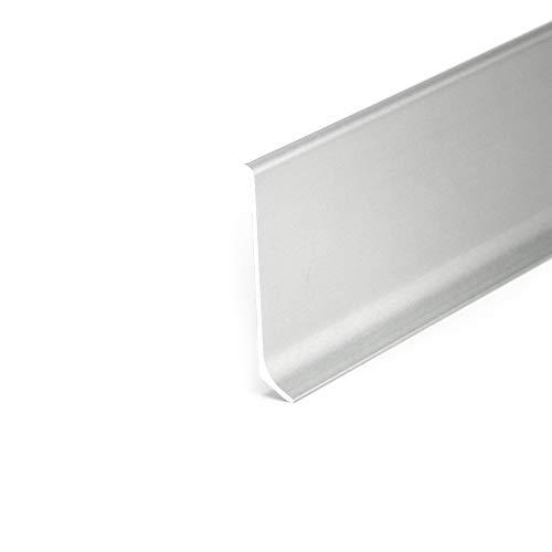 DQ-PP 2,5m plinthe en Aluminium 80mm, Couleur Argent