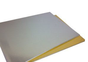 Pack of 50 A4 220gsm Single Sided Foil Mirror Gold Card
