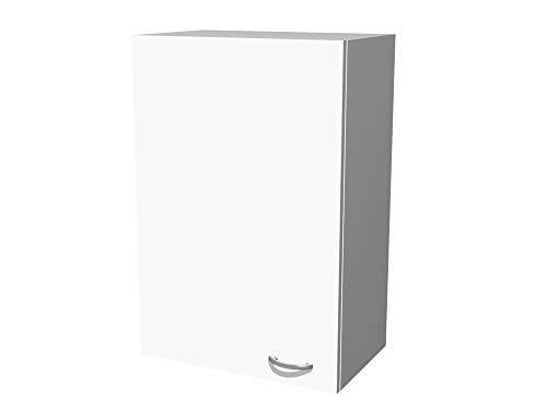Flex-Well Küchen-Hängeschrank UNNA   Oberschrank vielseitig einsetzbar   1-türig   Breite 60 cm   Höhe 89 cm   Weiß