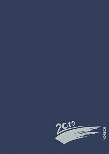 Foto-Malen-Basteln A4 dunkelblau mit Folienprägung 2019: Kalender zum Selbstgestalten