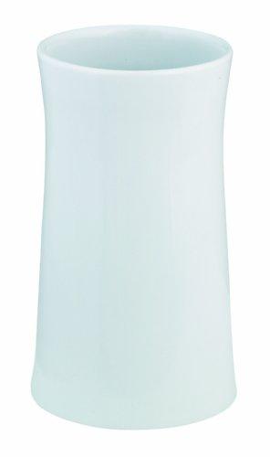 Spirella Malibu Zahnputzbecher aus Porzellan, 12x7cm, weiß
