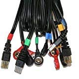 Compex set di 4 cavi a snap 8p per elettrostimolatori mi-sport 500, mi-fitness trainer
