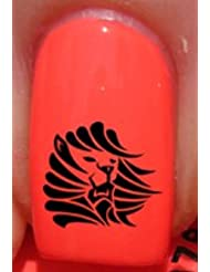 Tribal King Lion 2 - Nail Decals by YRNails