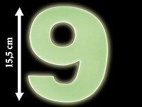 """Lunartec Nachleuchtende Hausnummer """"Ziffer 9"""" von Lunartec bei Lampenhans.de"""