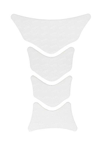 Tankpad 3D 501308 Racing White Transparent Tank-Schutz für Motorrad-Tank