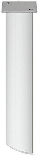 GedoTec® Design Möbel Tischbein elliptisch - Modell H1635 Alu   Tischfuß Aluminium silber eloxiert   Moderner Möbelfüß für Tische und Couch-Tische   Markenqualität für Ihren Wohnbereich