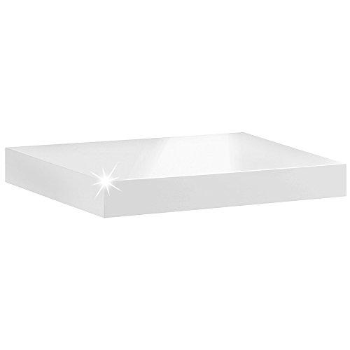 REGALRAUM Wandregal/Wandboard BOY | 44,5x25x5 cm - weiß hochglanz -