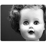 luxlady Gaming Mousepad eine Schwarz und Weiß Portrait einer alten Puppe, Bild-ID 2137009