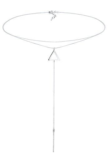 Elli Damen-Kette Dreieck 925 Sterling Silber 38 cm 0106972816_38