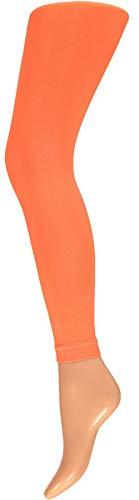 chen Leggins Leggings 60 den Karneval Fasching Kostüm schwarz rot rosa blau (orange-SM) ()
