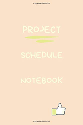 Project Schedule Notebook: Personal Organizer - (Project Planner, Project Organizer Notebook, Project Manager Planner 2020, Project Organizer Journal)