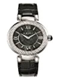 Versace Leda Black Mother of Pearl Dial Ladies Leather Watch VNC180017