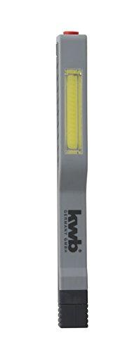 kwb COB-LED Stiftleuchte 948630 (superhell mit drehbarem, magnetischem Clip, passend für Hemd oder Hose)