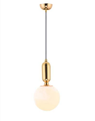 ZJG Moderne Einfache Pendelleuchte Esstisch Licht Persönlichkeit Kreative LED Einzelkopf Kronleuchter passend Bar Büro Studio Schlafzimmer Balkon Cafe Bekleidungsgeschäft Goldene Schwarz Weiß φ20cm -