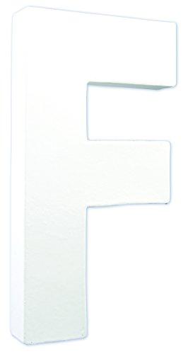 Decopatch AC705C - Loisir Créatif - Support de Lettre F de Hauteur, Blanc, 20,5 cm