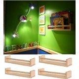 3x IKEA 4Gewürzregal aus Holz–Kinderzimmer–Buch Halter–Kinder Regal–Küche–Bad Zubehör–Aufbewahrung Organizer–Birke natur Holz–Bekvam