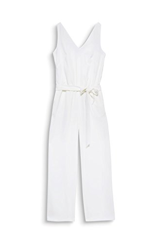 ESPRIT Collection Damen Jumpsuit 068EO1L007, Weiß (Off White 110), 36 - 3