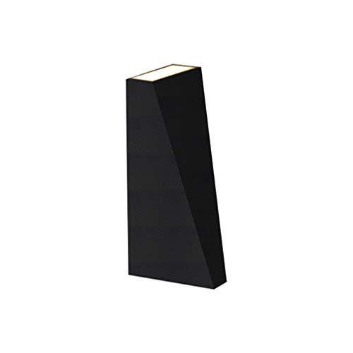 Und Ab Trapezoid Cast Aluminium Wandleuchte Innen Wohnzimmer Schlafzimmer Studie Gang Wasserdichte Außenwandleuchte Schwarz Und Weiß Glühbirne Enthalten,Black ()